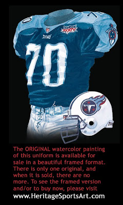 Tennessee Titans 1999 uniform