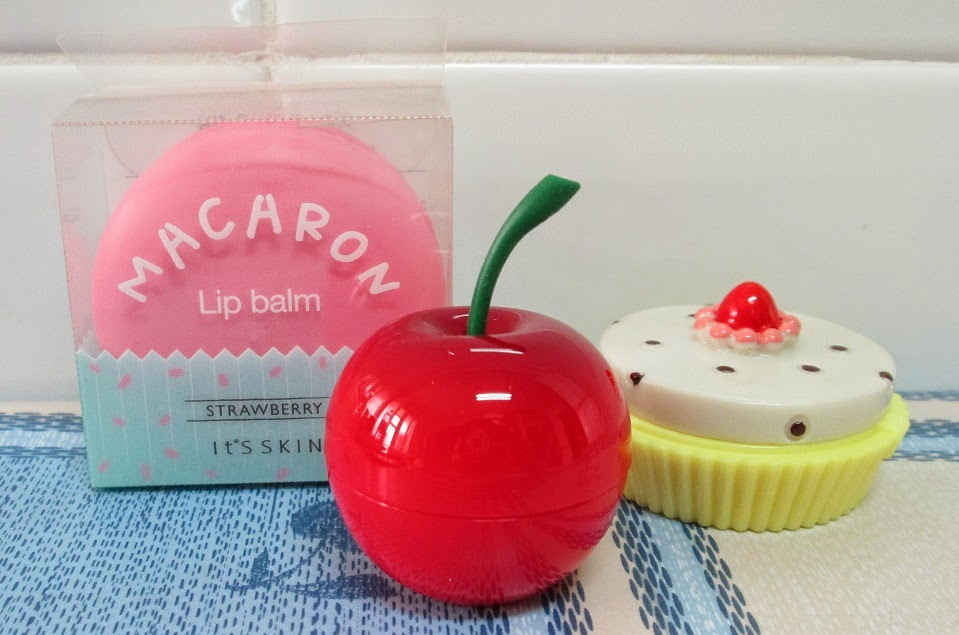 Bálsamos de Labios Coreanos Jolse: Dessert Time Lip Balm (Holika Holika) + Macaron Lip Balm (It´s Skin) + Mini Berry Lip Balm (TonyMoly)