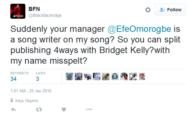 For Stealing My Song, We Will Meet In Court Soon, Blackface Comes For 2face On Twitter (Screenshots)