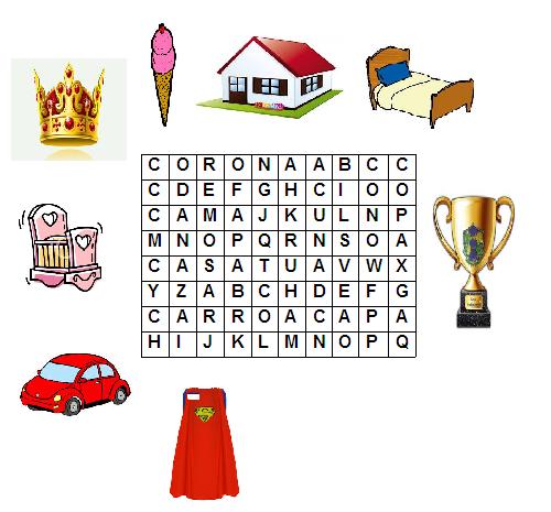 ... Encuentra en la sopa de letras los nombres de los objetos animados