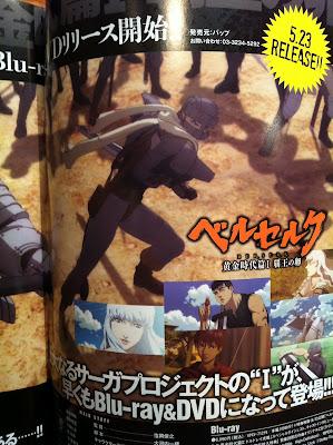 Berserk Ougon Jidai Hen Haou no Tamago DVD Blu Ray Lanzamiento Mayo Famitsu Magazine