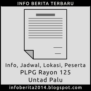 Info, Jadwal, Lokasi, Peserta PLPG Rayon 125 Untad Palu 2015