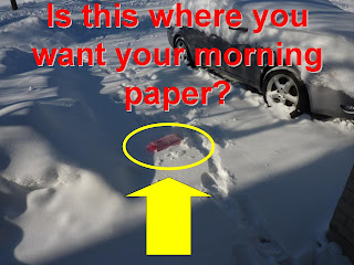Morning newspaper delivery