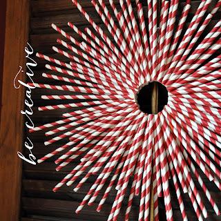 paper straw wreath tutorial on Creative Bag's blog