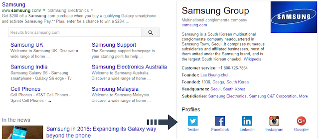 samsung on search engine