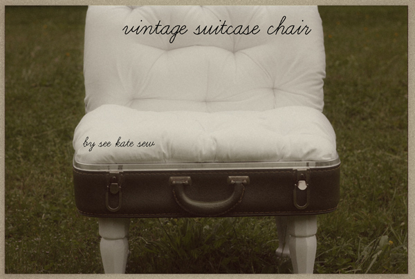 suitcasechair Ten Vintage Suitcase Tutorials