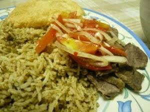 nasi daging ringkas