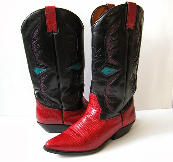 Model Girl Cowboy Boots | Red Cowboy Boots For Women