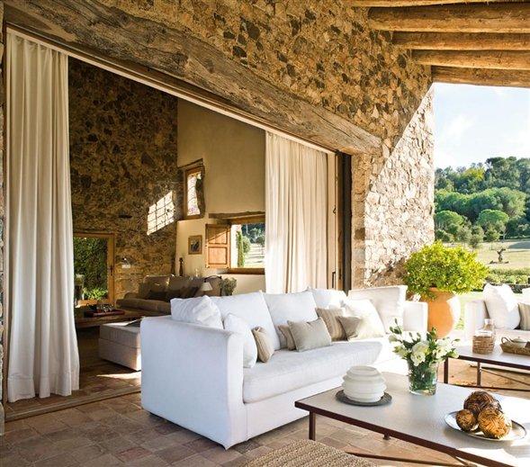 Mgc dise o de interiores hermosa casa antigua totalmente - Fotos de porches rusticos ...