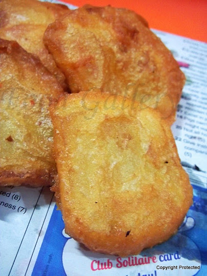 Potato bajji, Potato fritters
