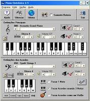 A bela pianista eletrônico