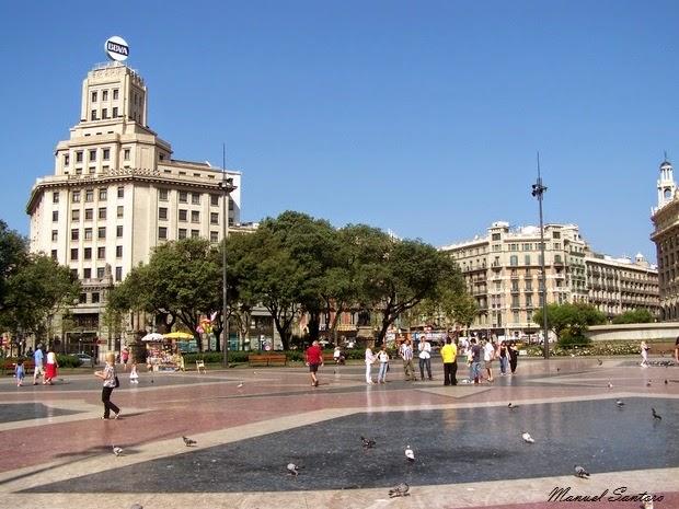 Barcellona, Plaza Catalunya