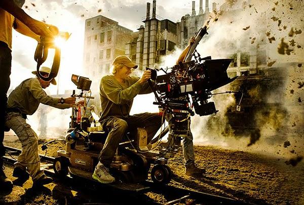 Michel Bay en el set de Transformers 4: La Era de la Extinción