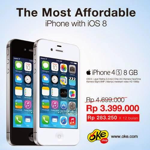iPhone 4s 8GB di OkeShop Harga Baru Rp 3.399.000