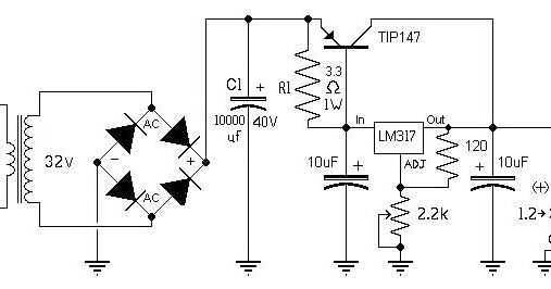 Variable Power Supply Lm317 10a Electronic Knowledge Share