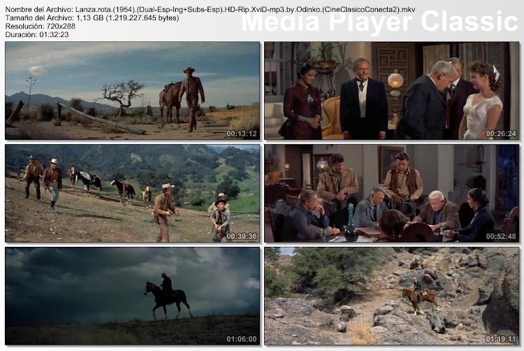 Lanza rota | 1954 | Broken Lance | Secuencias de la película