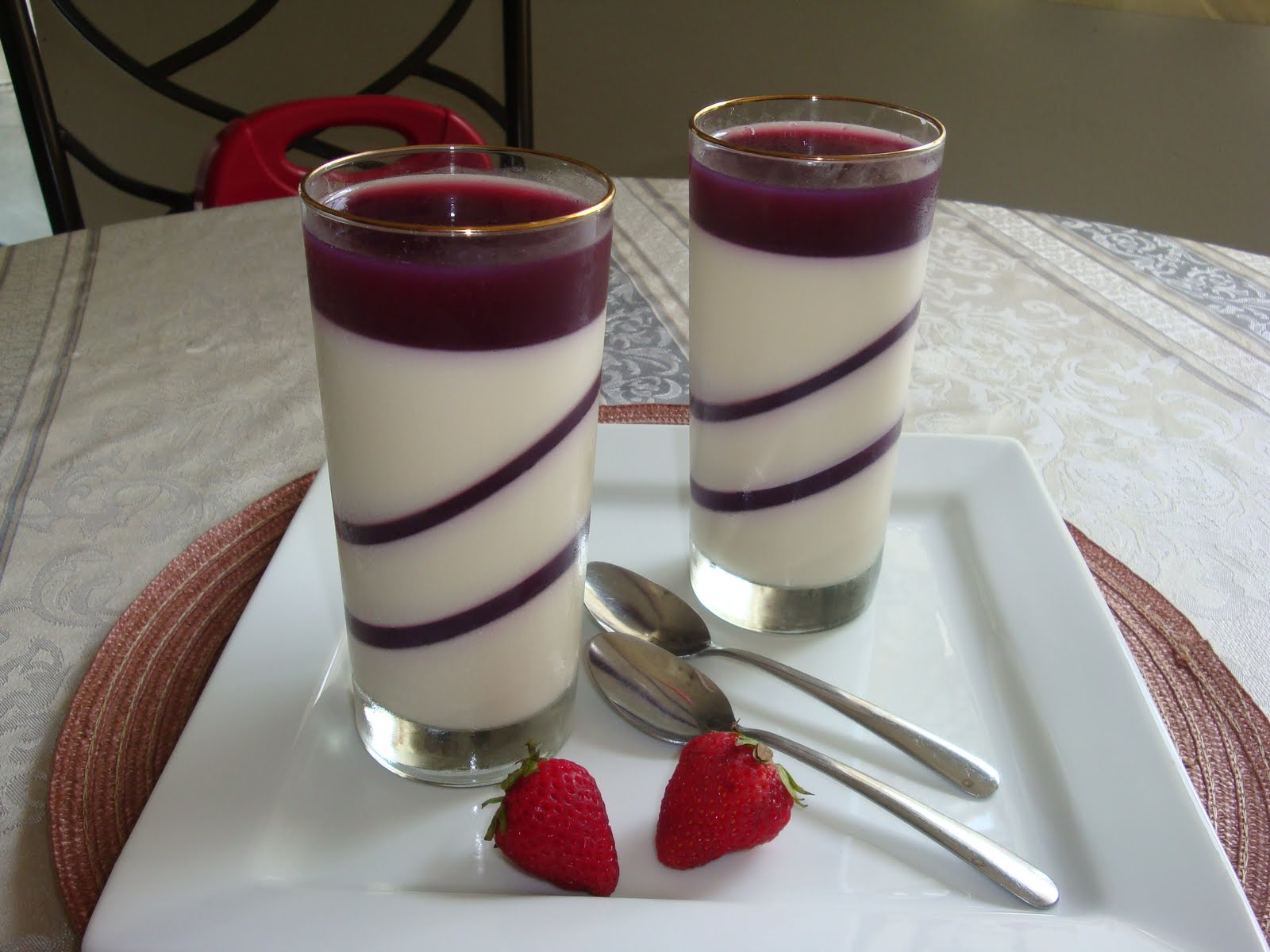Sweet Home Recipes...: Layered Vanilla Panna cotta