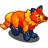 FarmVille Ruby Red Direwolf