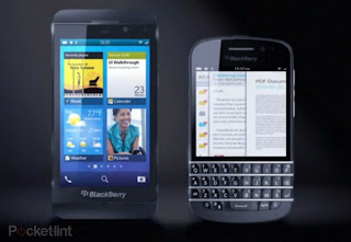 Blackberry 10 with BlackBerry Z10 and BlackBerry Q10