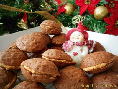 ciasteczka orzeszki, ciastka, orzeszki, ciastka na święta Bożego Narodzenia