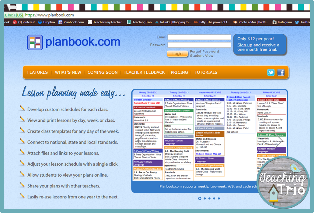 Planbook driverlayer search engine for Planbook login