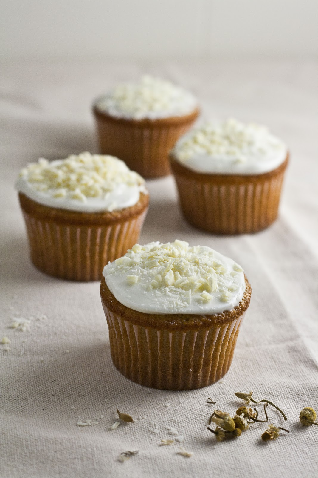 White Chocolate, Honey, and Chamomile Cupcakes ...