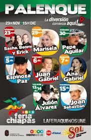 Palenque Feria de Chiapas 2013 Programa