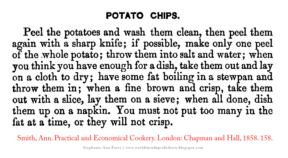 World turnd upside down civil war era potato chip recipe the recipe forumfinder Choice Image