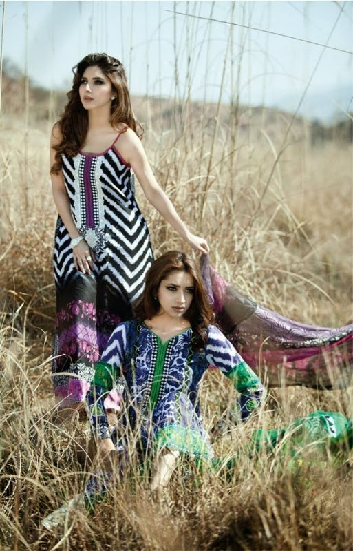 Maria B Summer Lawn Collection 2014 By Resham Textile