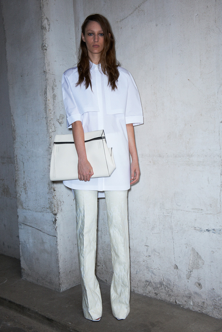 Lula Osterdahl in Céline resort 2013 look book, all white, monochromatic, Pheobe Philo, designer