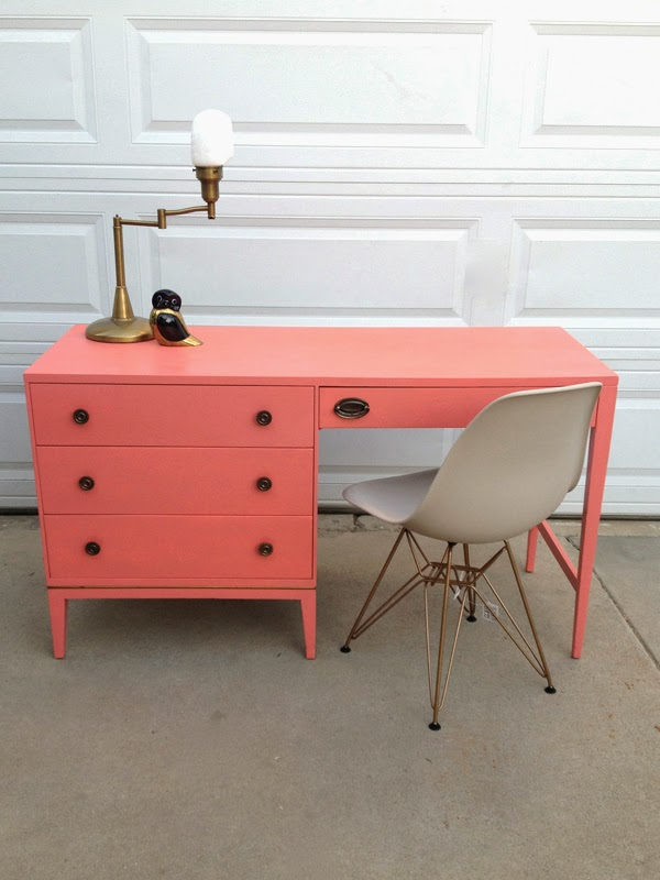 oleander and palm coral and kelly green home office furniture fixes