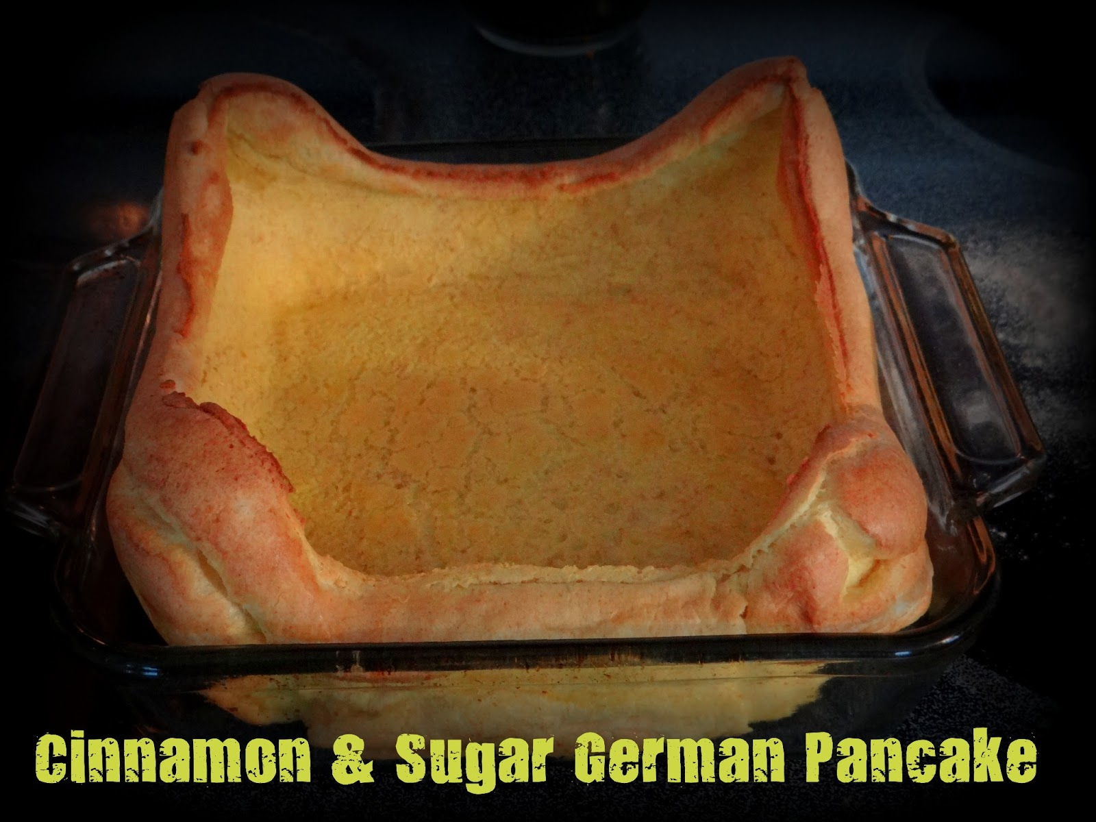 One Organic Mama: Cinnamon & Sugar German Pancake