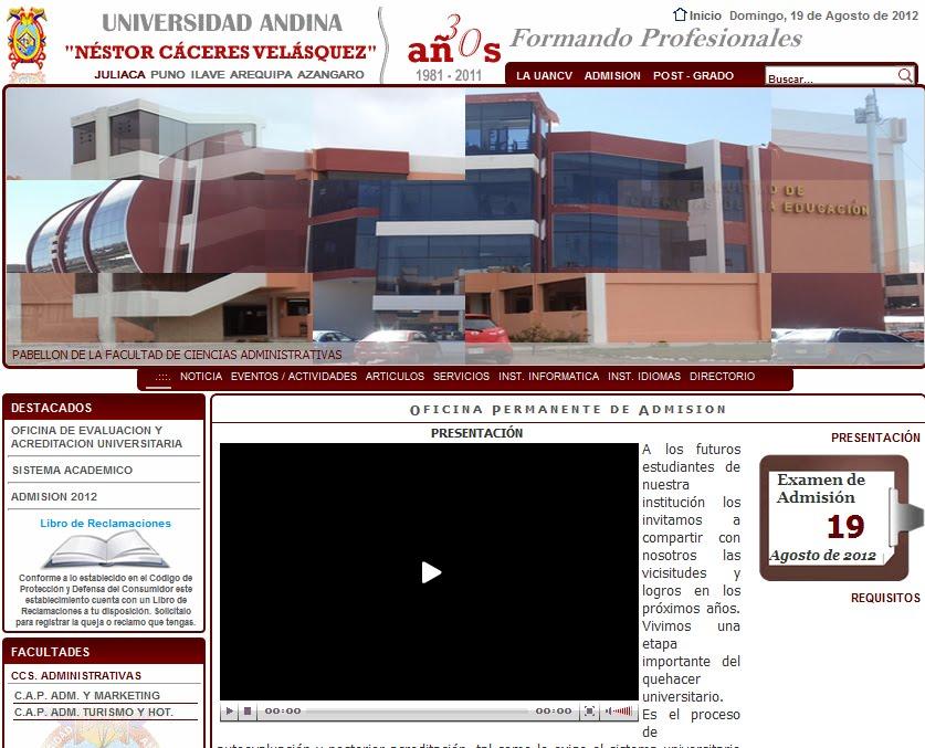 Ingresantes Examen UANCV 2013 - 2
