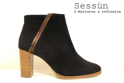 SOLDES Sessùn Low boots daim noir