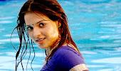 glorious Saloni wear saree in swiming pool hot wet photos