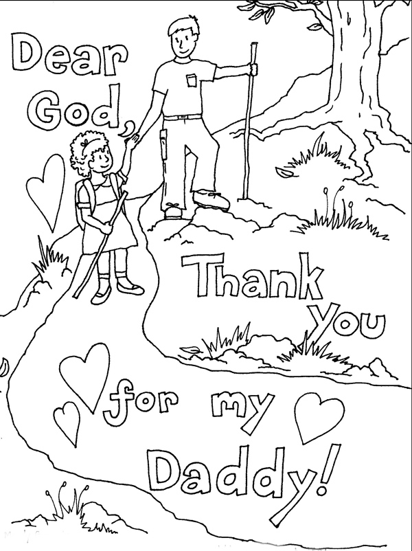 fathers day card coloring pages - photo#6