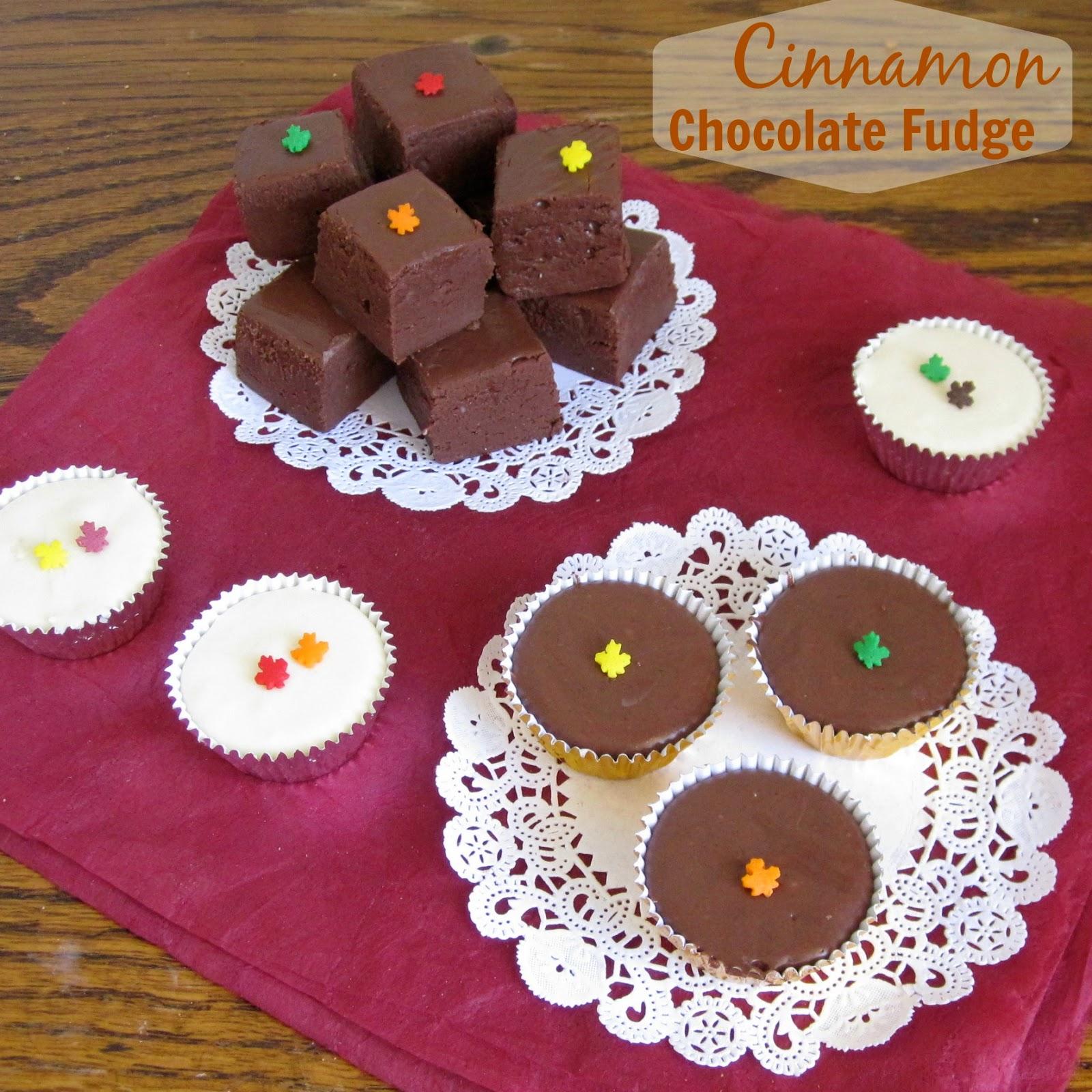 Simple Cinnamon Chocolate Fudge - Lindsay Ann Bakes