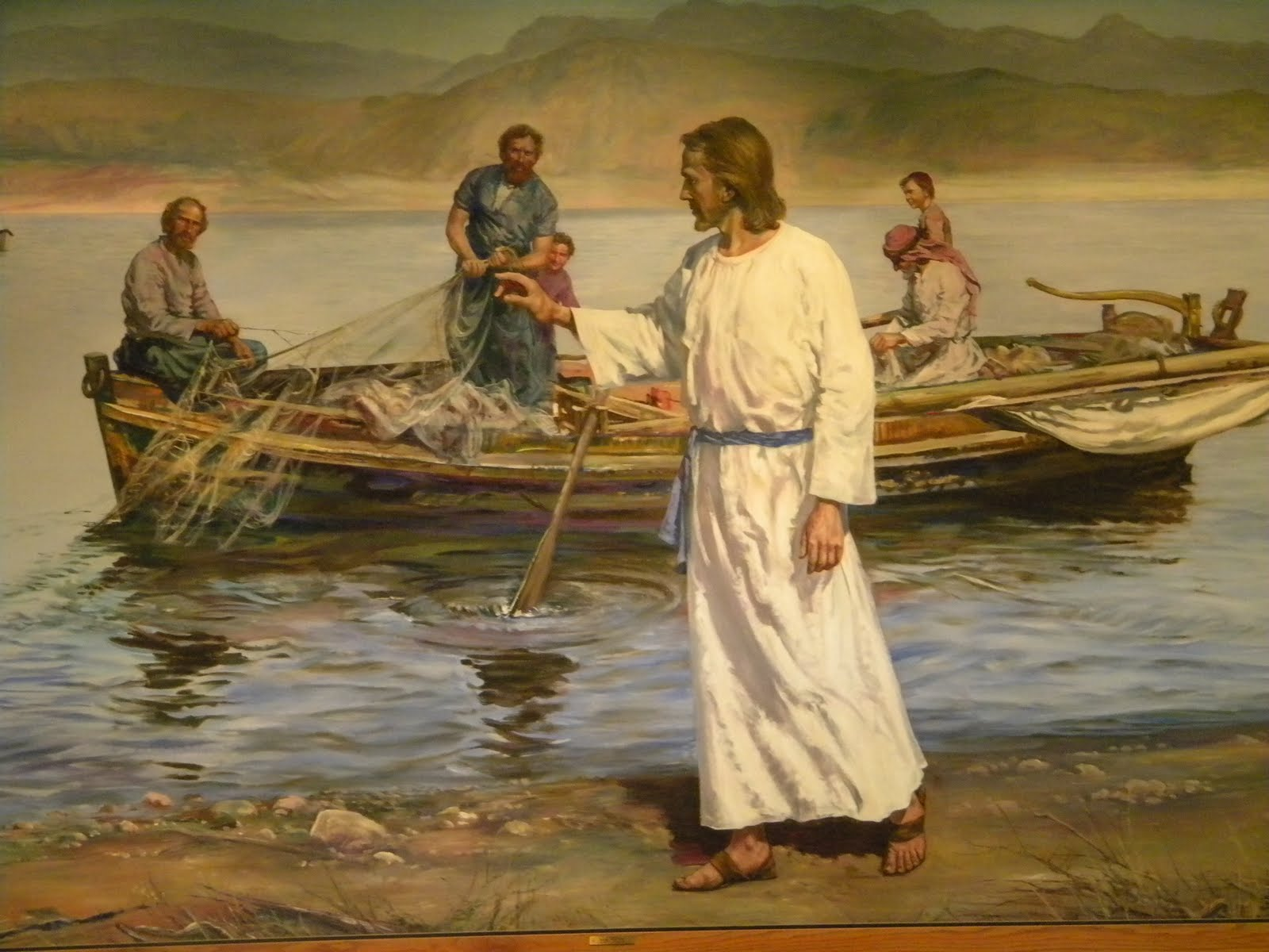 My fuller feelings feed my sheep for Fishing in the bible