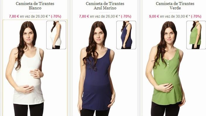 Camisetas tirantes baratas de Premamá
