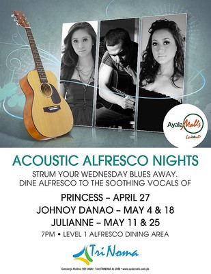 Princess Live in Trinoma - April 27,Johnoy Danao Live in Trinoma - May 4 & 18, Julianne Live in Trinoma - May 11 & 25,poster,picture, images, photos, tickets