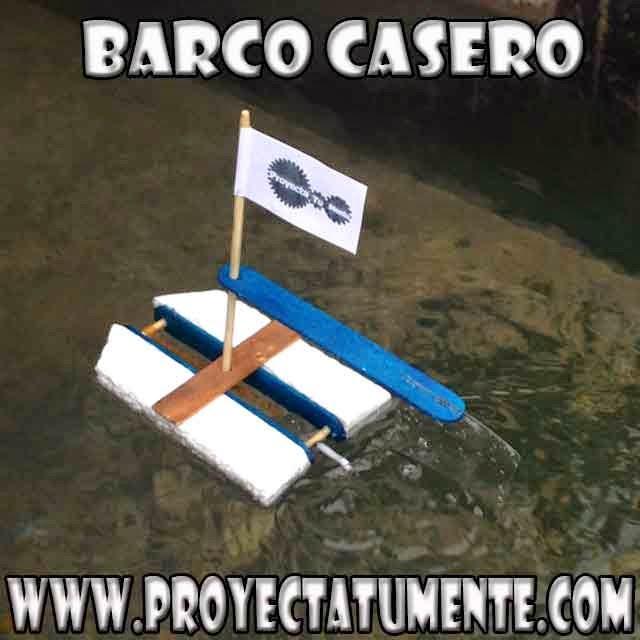 Barco casero,barco dc casero,gomas elásticas,bote,lancha