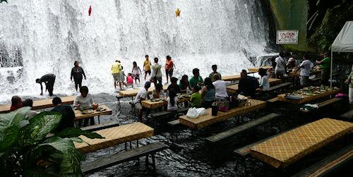 The presurfer villa escudero the waterfall resturaunt in Villa escudero quezon province
