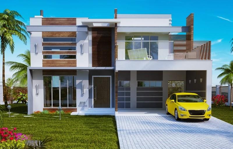 Fachadas de casas de sobrados veja 50 modelos lindos for Fachadas casas unifamiliares