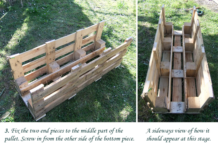 How to make a better strawberry pallet planter lovely greens for How to make a flower box out of pallets