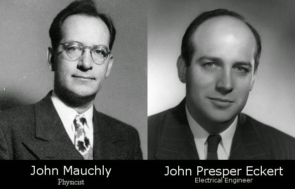 john mauchly john presper eckert Electrical engineer and inventor john presper eckert — family and friends  the  first general-purpose electronic digital computer, with john william mauchly.