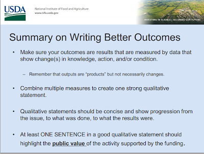 Screenshot of PDF page on Writing Better Outcomes PDF