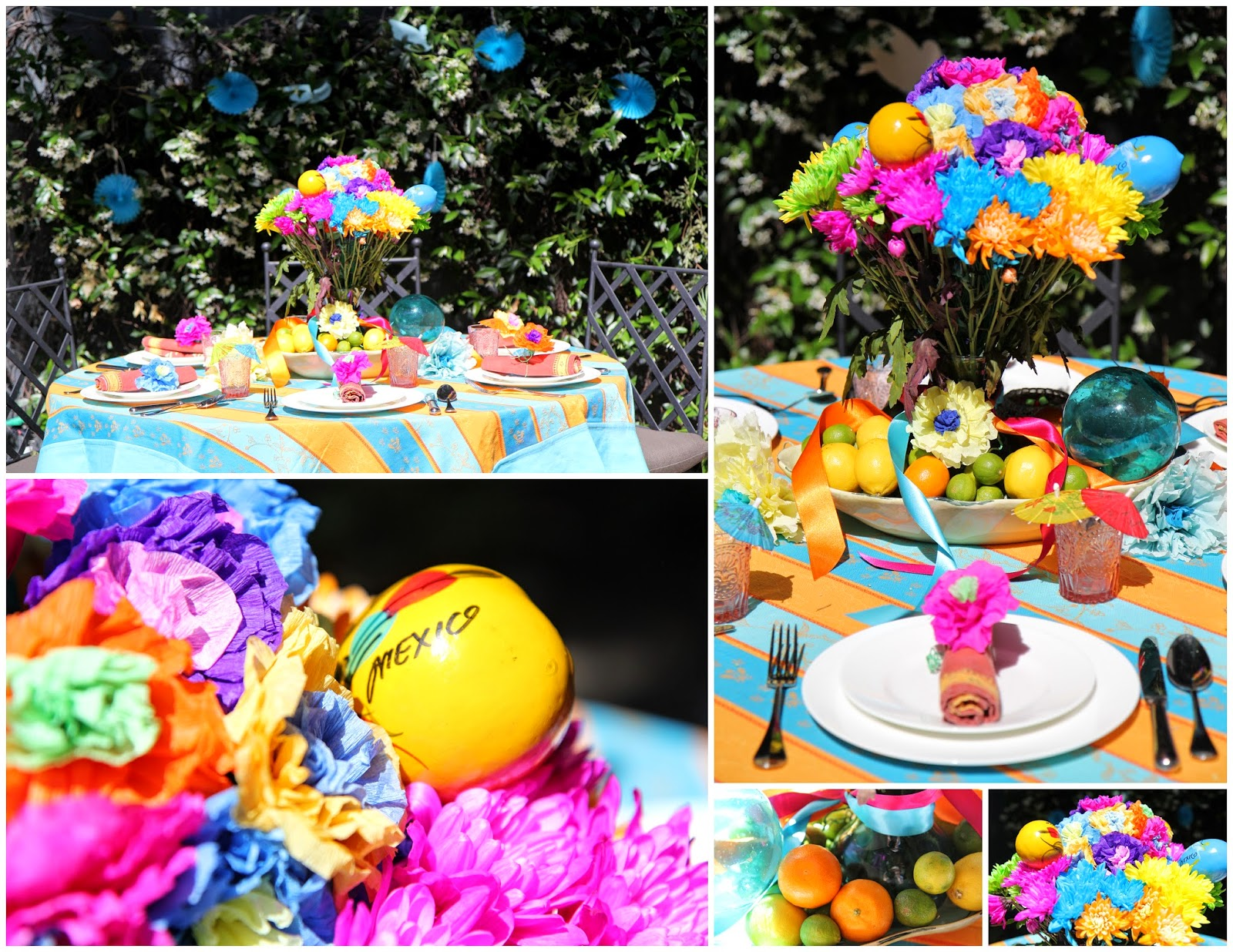 Colorful Ideas for a Backyard Party; Cinco de Mayo Celebration -- Nora's Nest