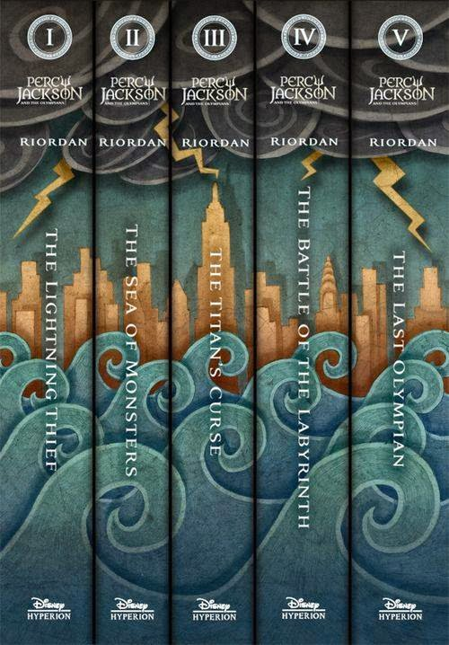 Percy Jackson and the Olympians spine