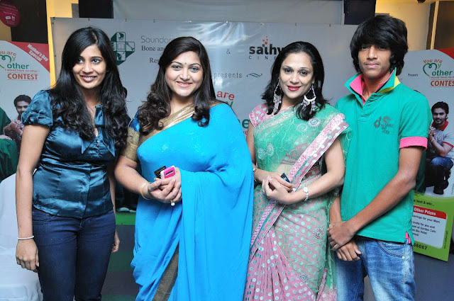 Kushboo Sundar In Saree PhotosActress Kushboo Blue Saree Stills