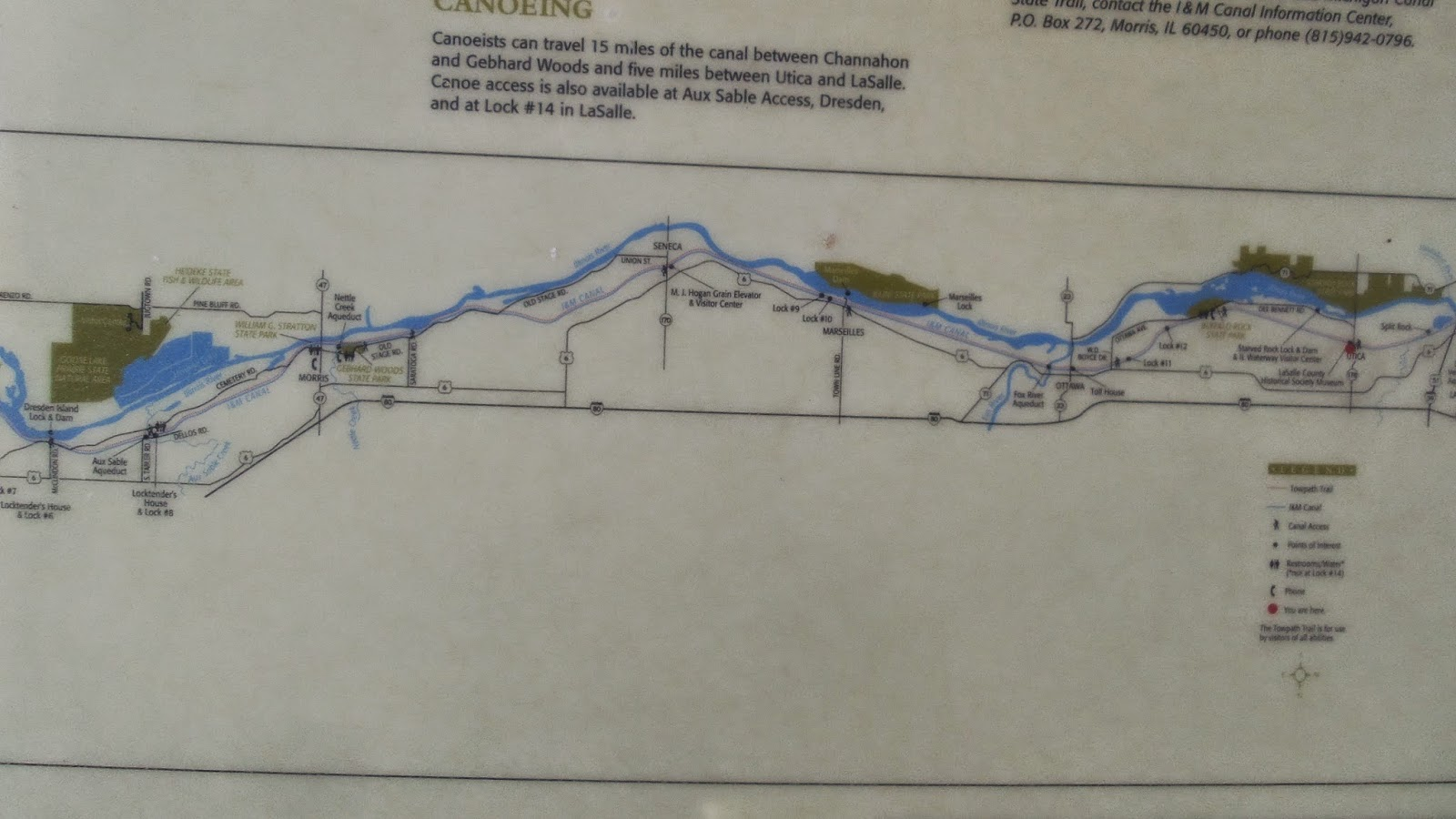 there is also a map of the canal there